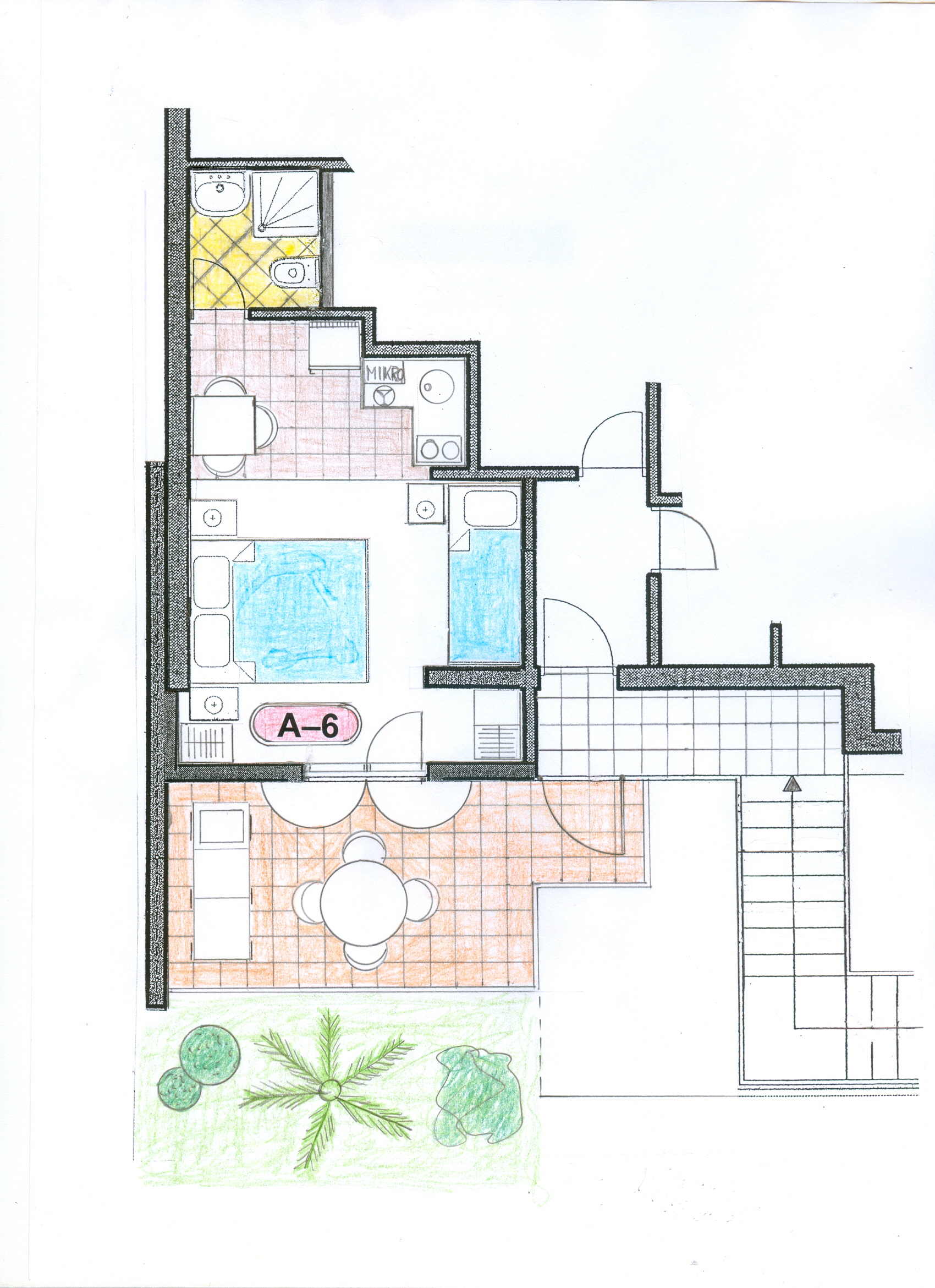 Ap.6. Valentino-plan-Apartments Trogir